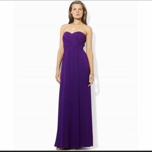 Ralph Lauren purple evening gown